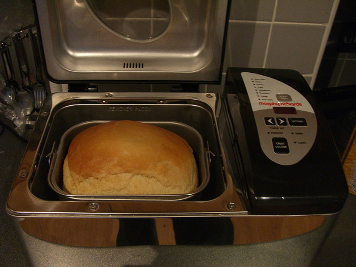 Freshly Baked Bread in a Bread Maker