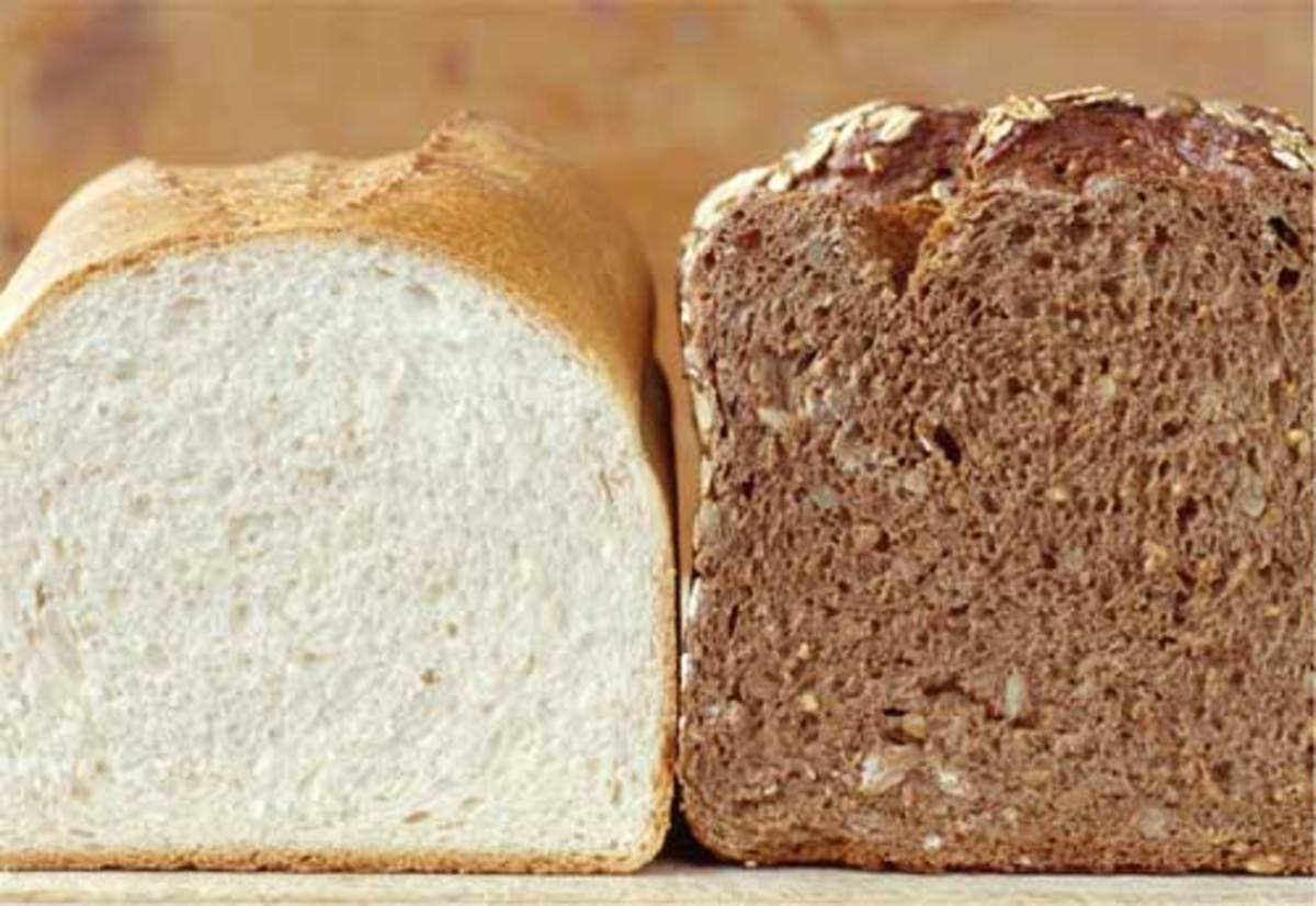 Loaves of White and Brown Bread