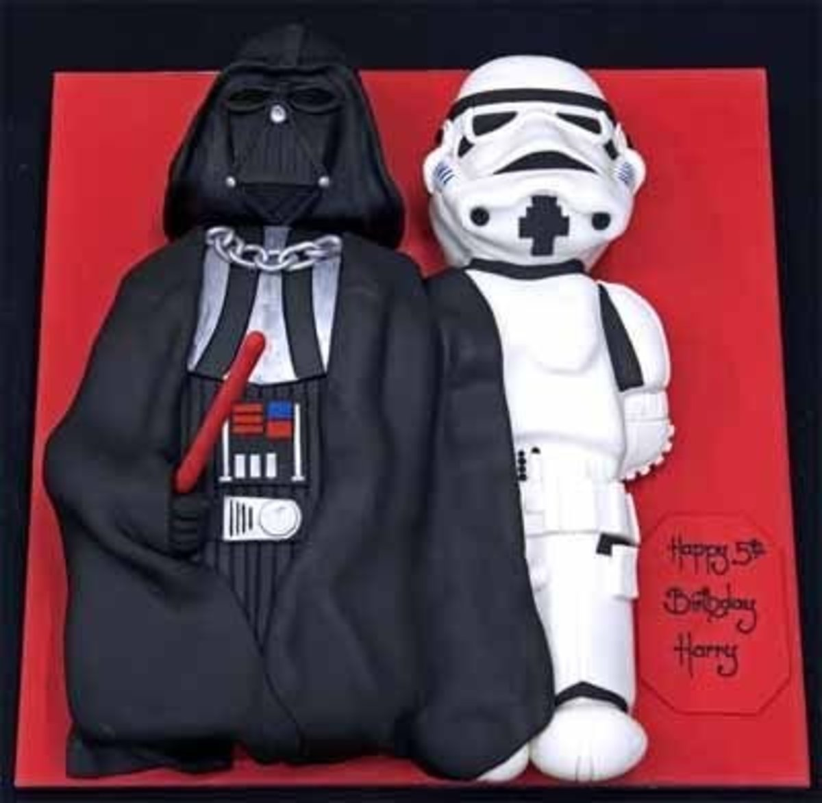 Darth Vader and Storm Trooper Cake