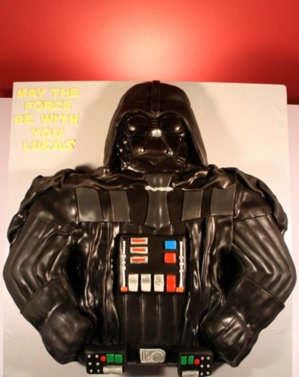 Amazing Darth Vader Cake! YES, it IS a black cake!