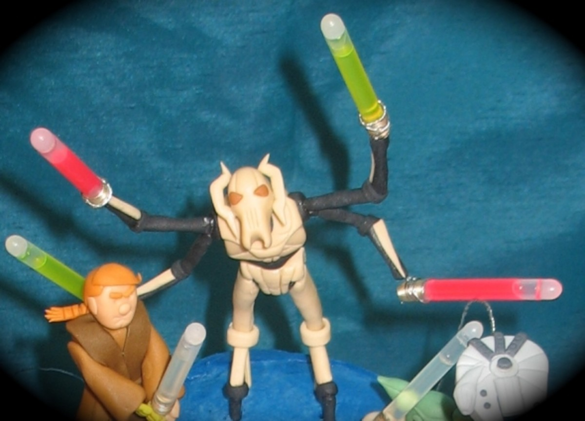 General Grievous Figure, Awesome Light Sabers!