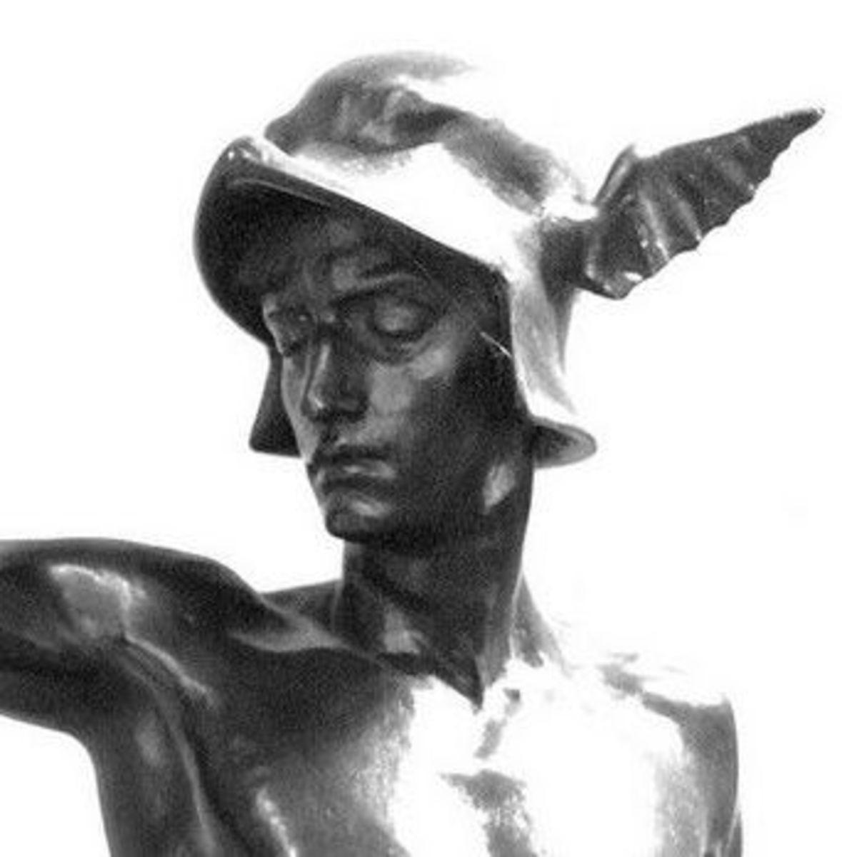 Hermes in his winged cap