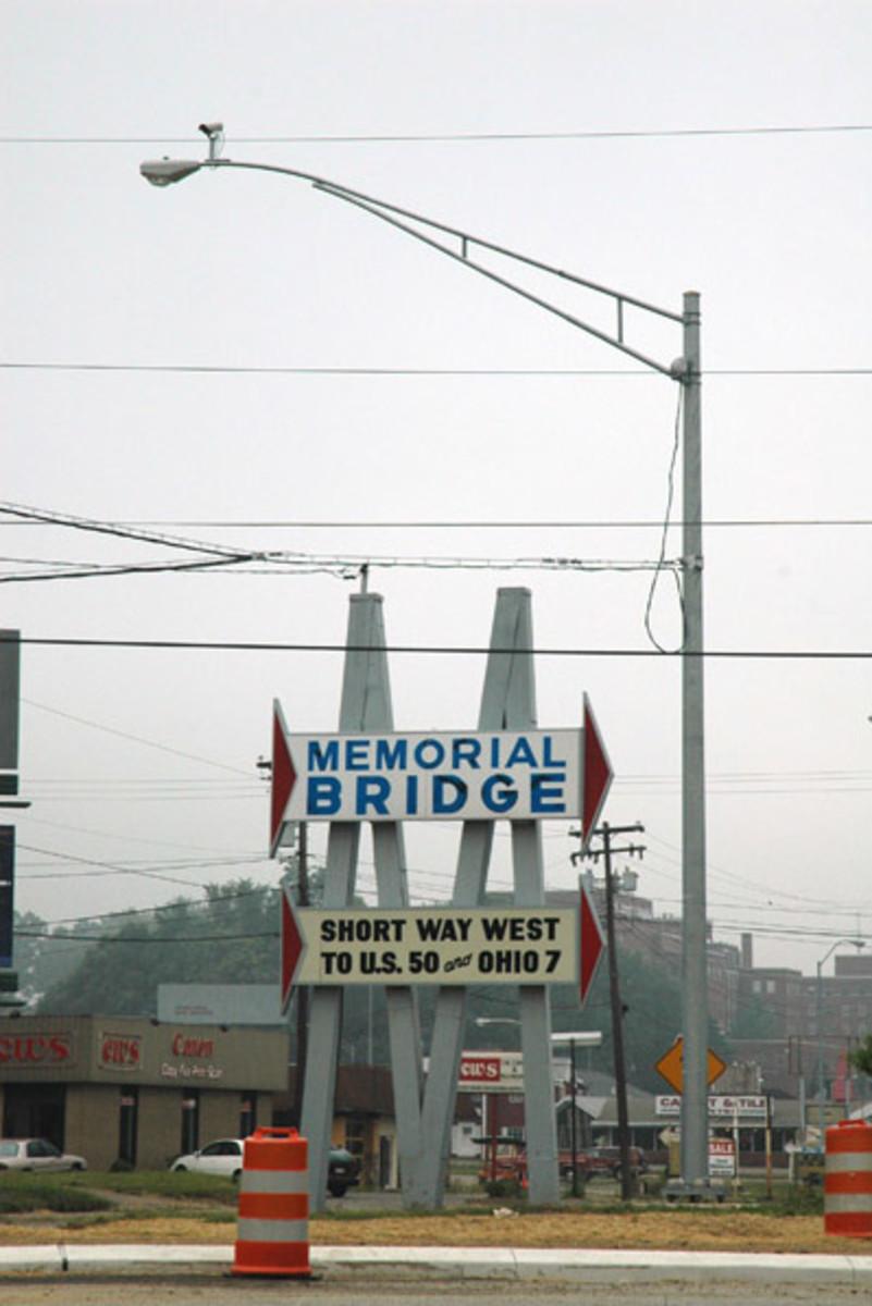 Along the Ohio River: Memorial Bridge to Parkersburg WV.