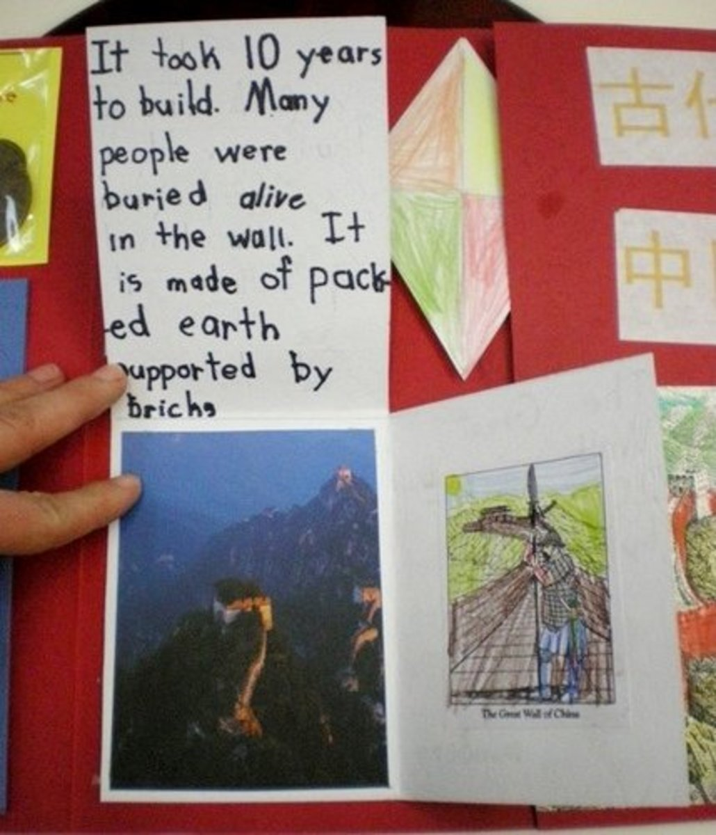 Great Wall three quarters book, inside