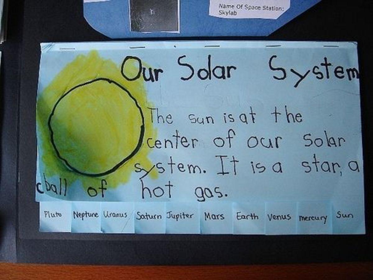 solar system tabbed book
