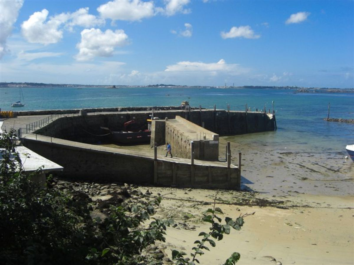 Herm Harbour at Low Tide