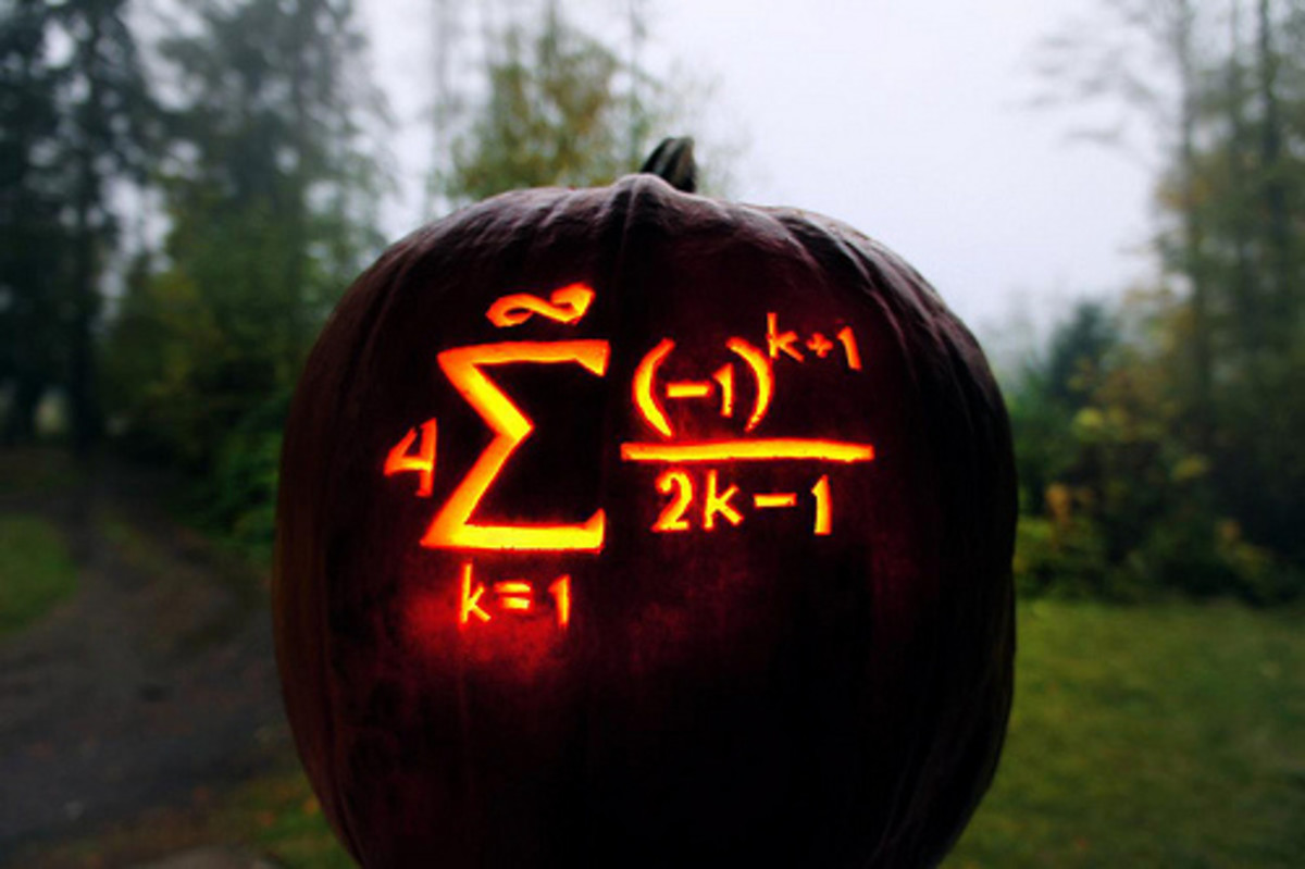 """Pumpkin Pi"" by Nathan Shields. We see from this clever carving that mot every pumpkin must become a ""pie."""