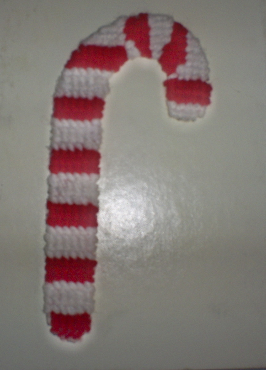 Cross stitch candy cane.