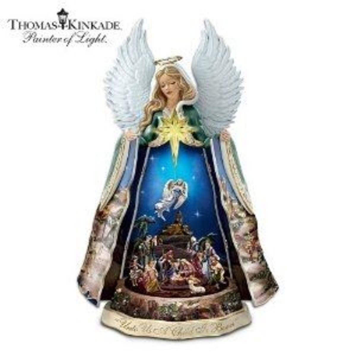 Thomas Kinkade Christmas Nativity Angel
