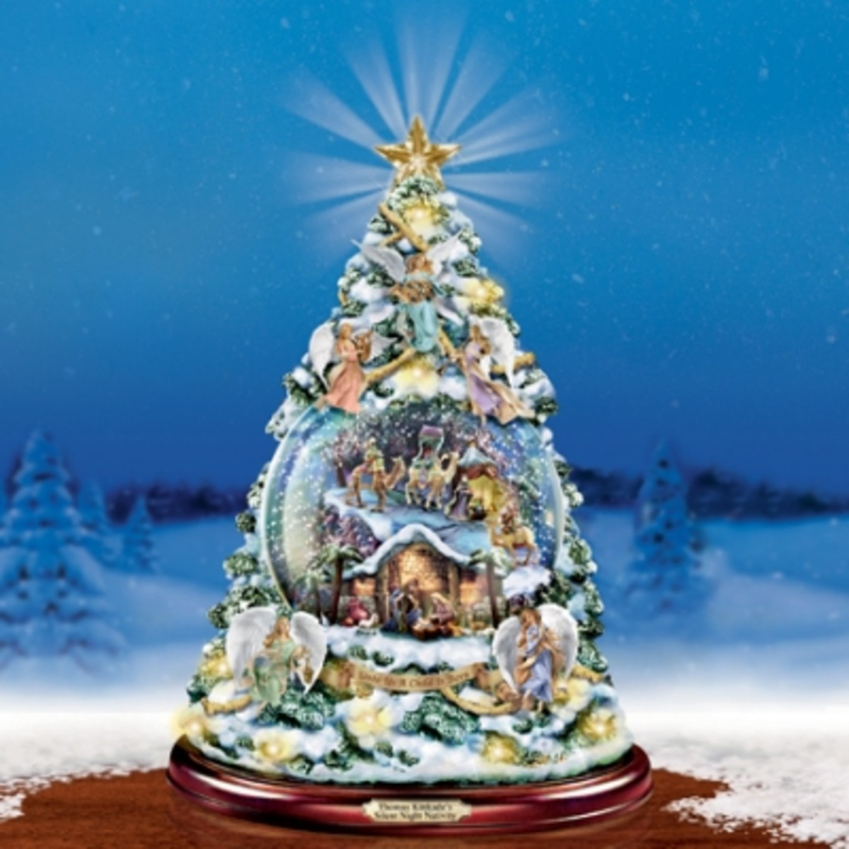Thomas Kinkade Silent Night Christmas Tree