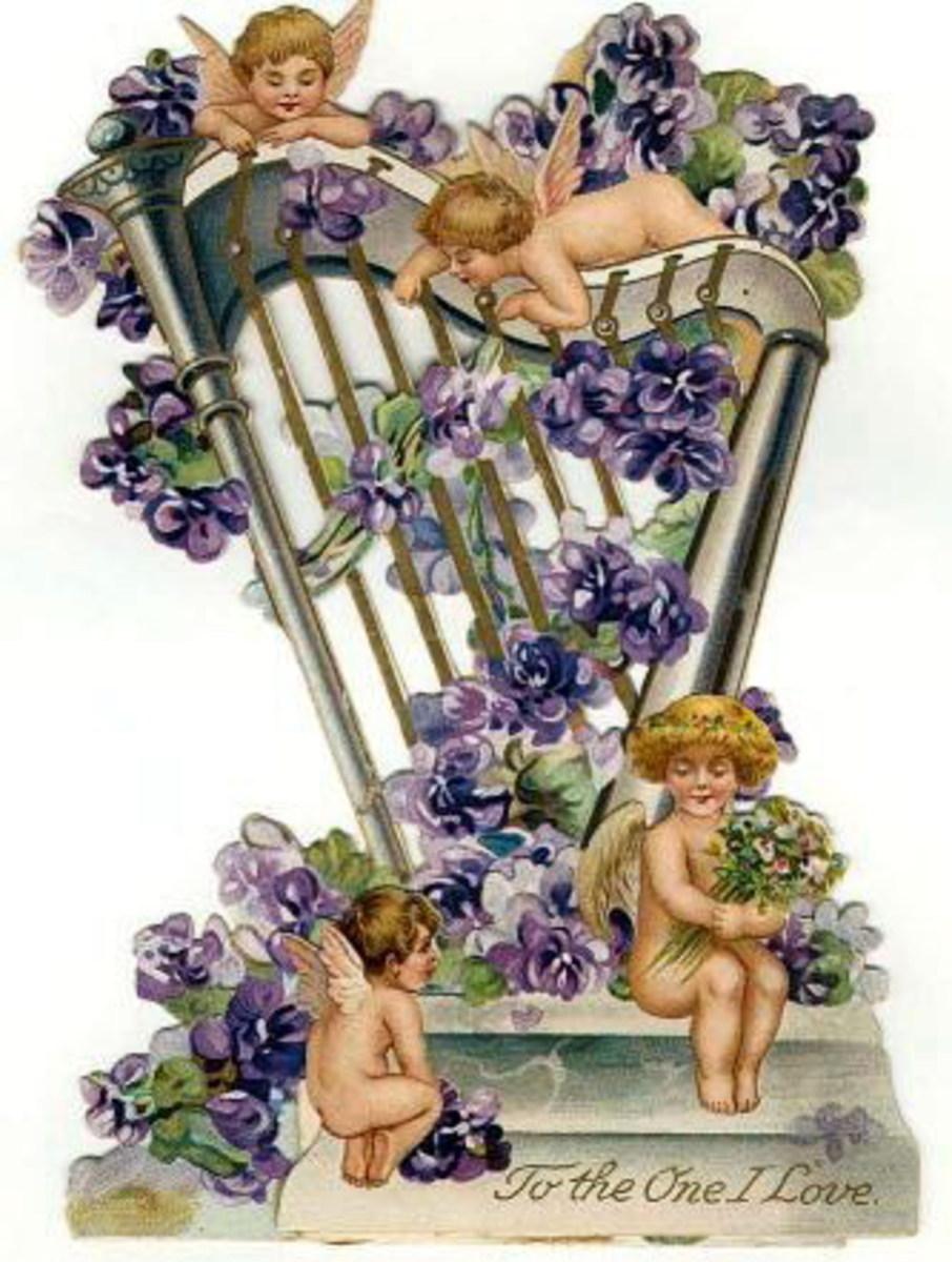 Free Valentine's Day Vintage Angels and Cherubs Clip Art
