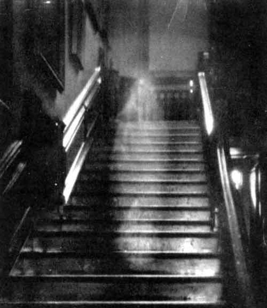 The Brown Lady Ghost Photograph. Though some people make the claim that this photo is a hoax no one has ever been able to prove that claim. It is not a hoax. It is the best ghost photo ever taken.