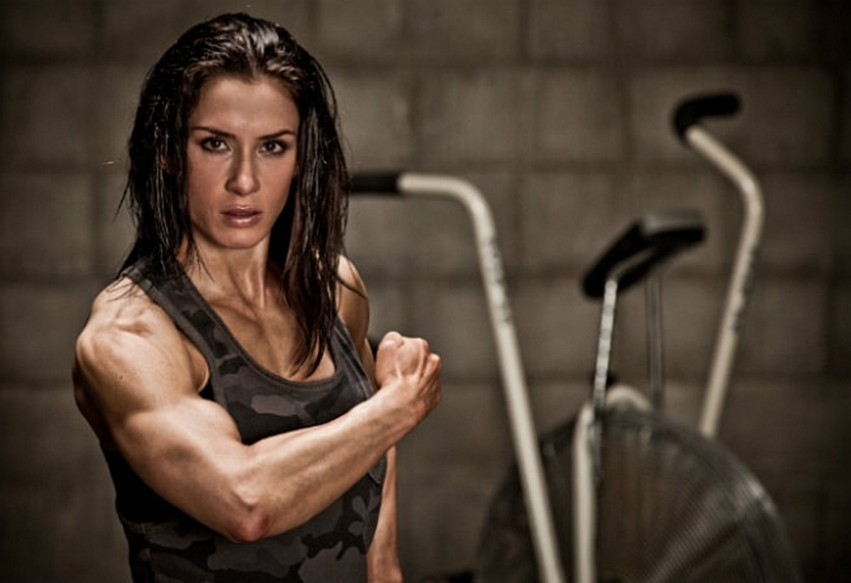 Pauline Nordin at Muscle and Fitness Hers