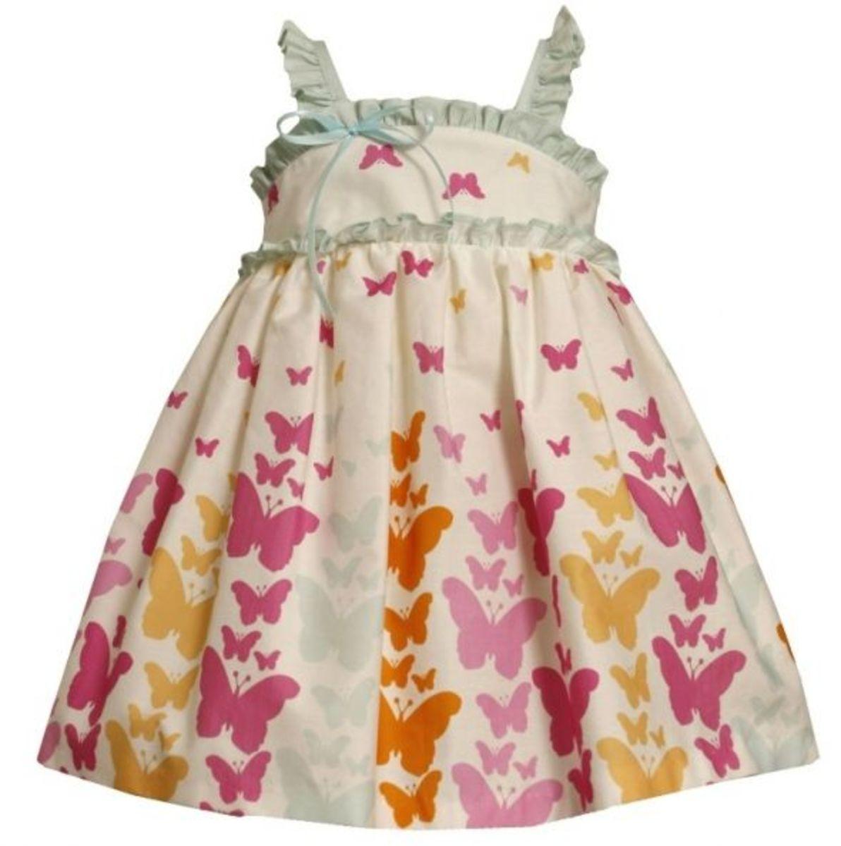 Bonnie Jean Dress With Butterflies