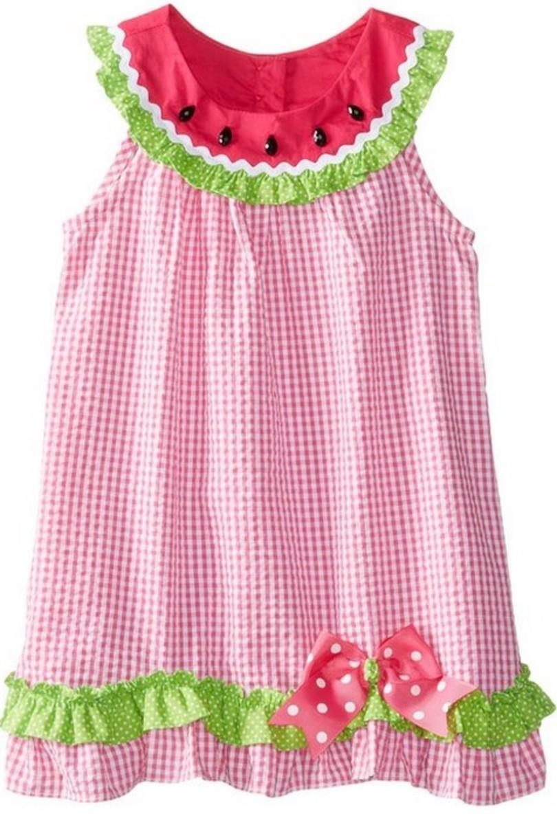 Rare Editions Watermelon Dress