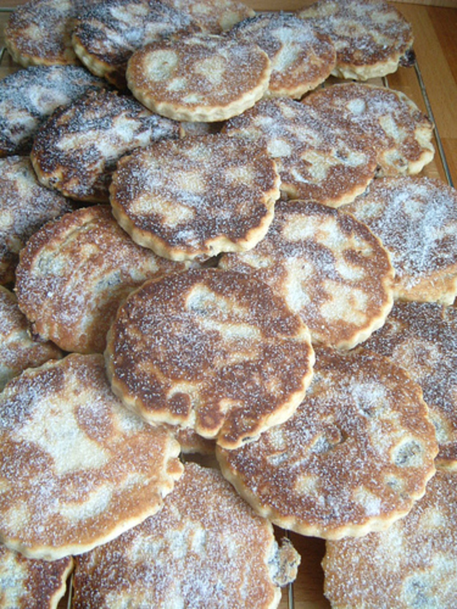 Welsh Cakes,are often known as Bakestones - they also have lots of other names in Welsh including Picau Ar Y Maen, Pice Bach Ar Y Maen, Cacen Gri and Teisen Radell!