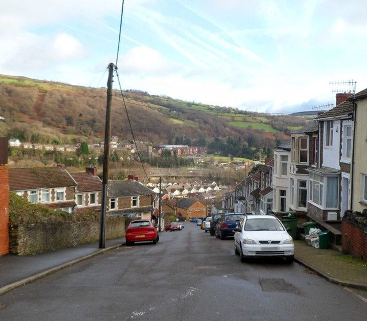 photo of Stow Hill, Treforest, Pontypridd (the town in the Rhondda Valley in South Wales where my family lived - and some still do!)