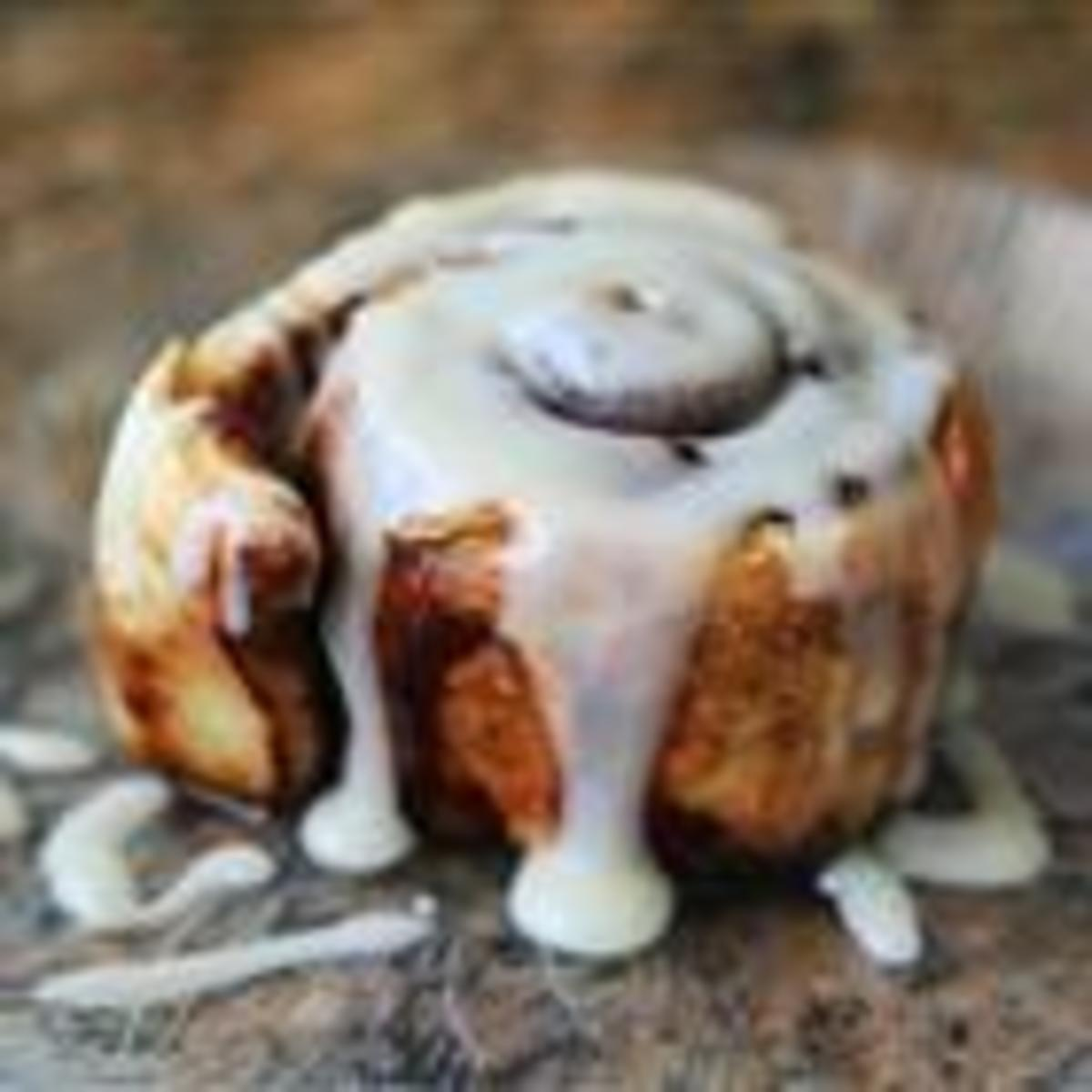 This is what your cinnamon bun should look like when done.