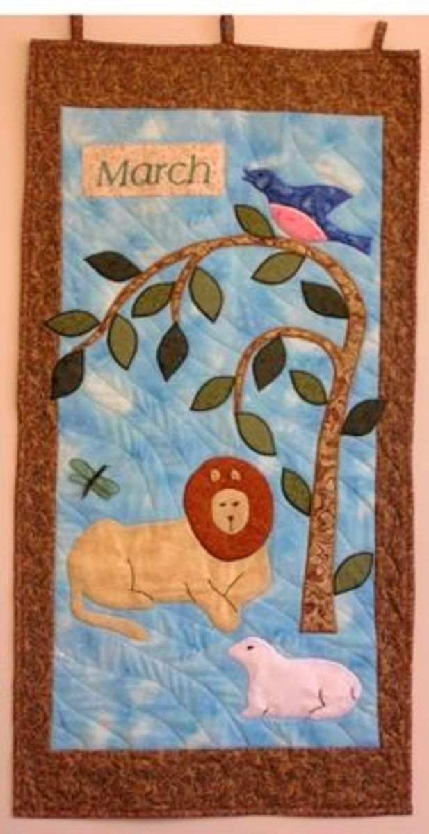 March Lion and Lamb Quilt
