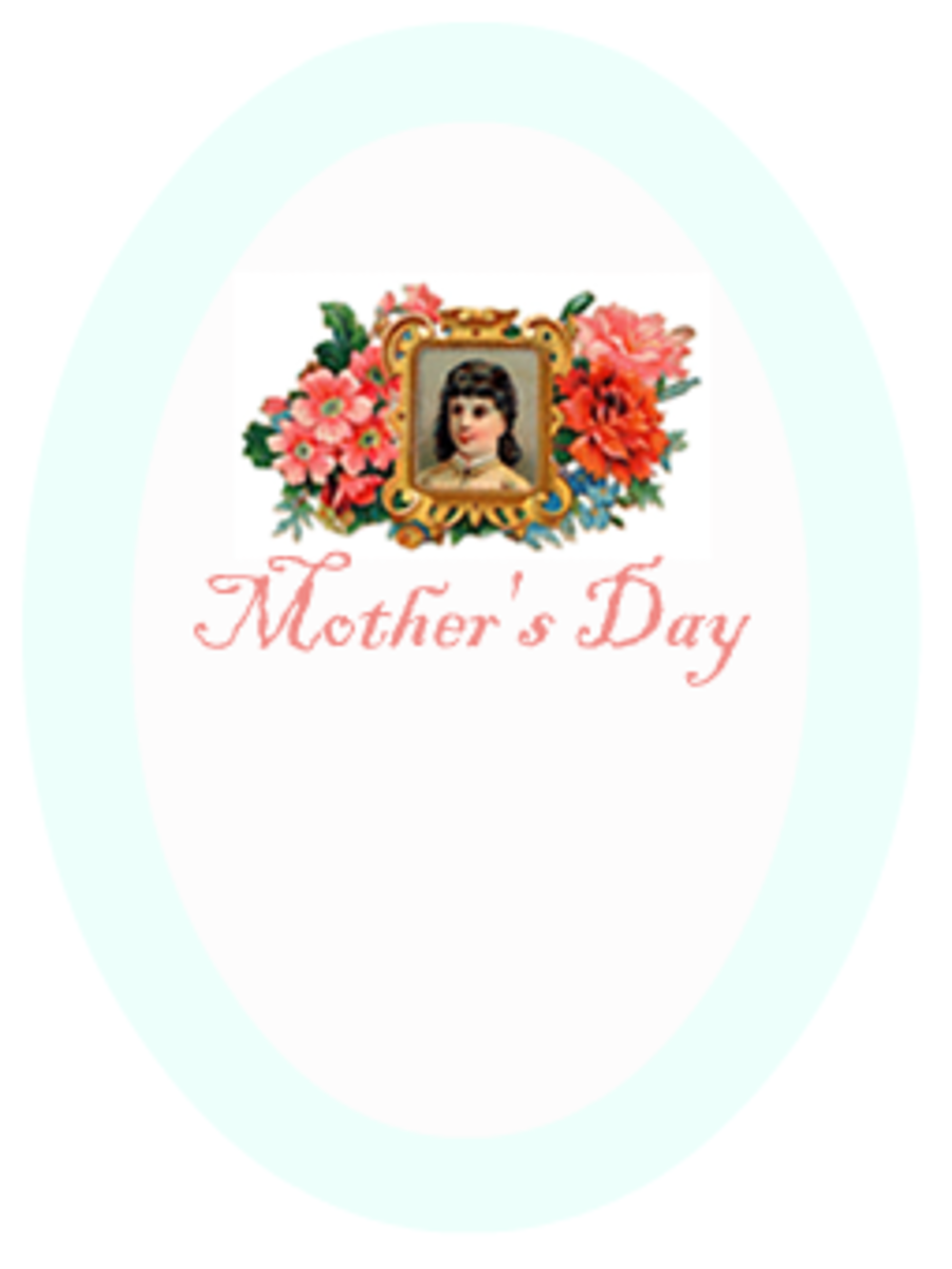 "Aqua Mother's Day scrapbooking embellishment ""Mother's Day"""