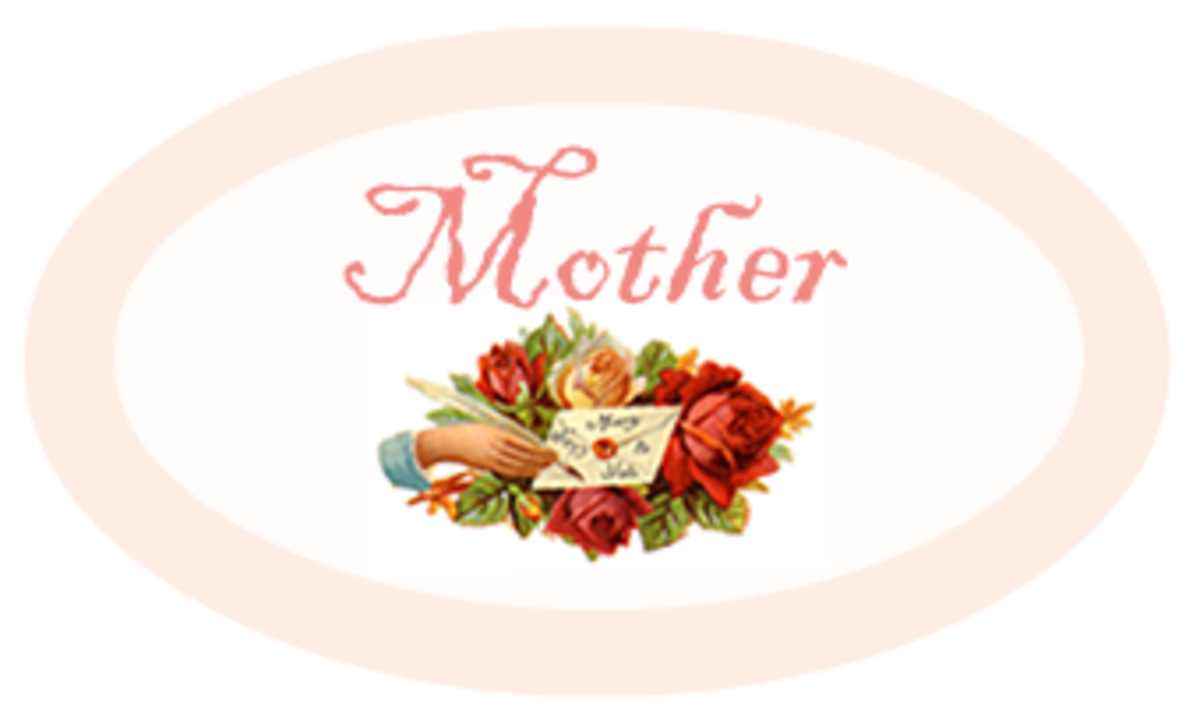 "Peach Mother's Day scrapbook embellishment ""Mother"""