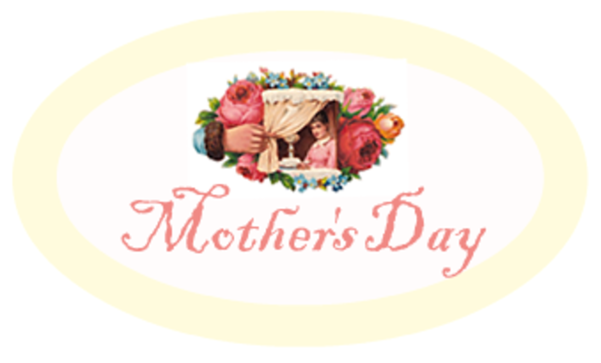"Free yellow Mother's Day scrapbook embellishment ""Mother's Day"""