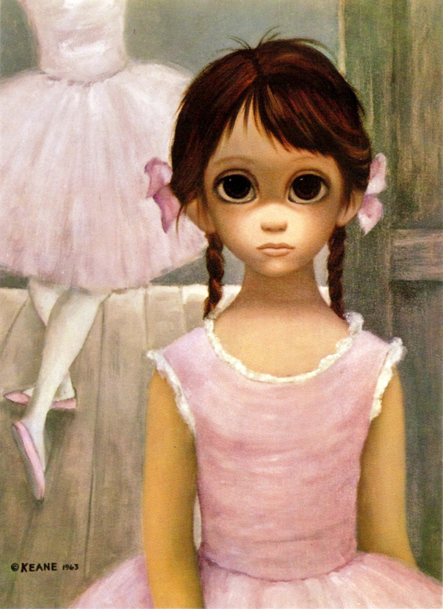 """The Reluctant Ballerina"" by Margaret Keane 1963"