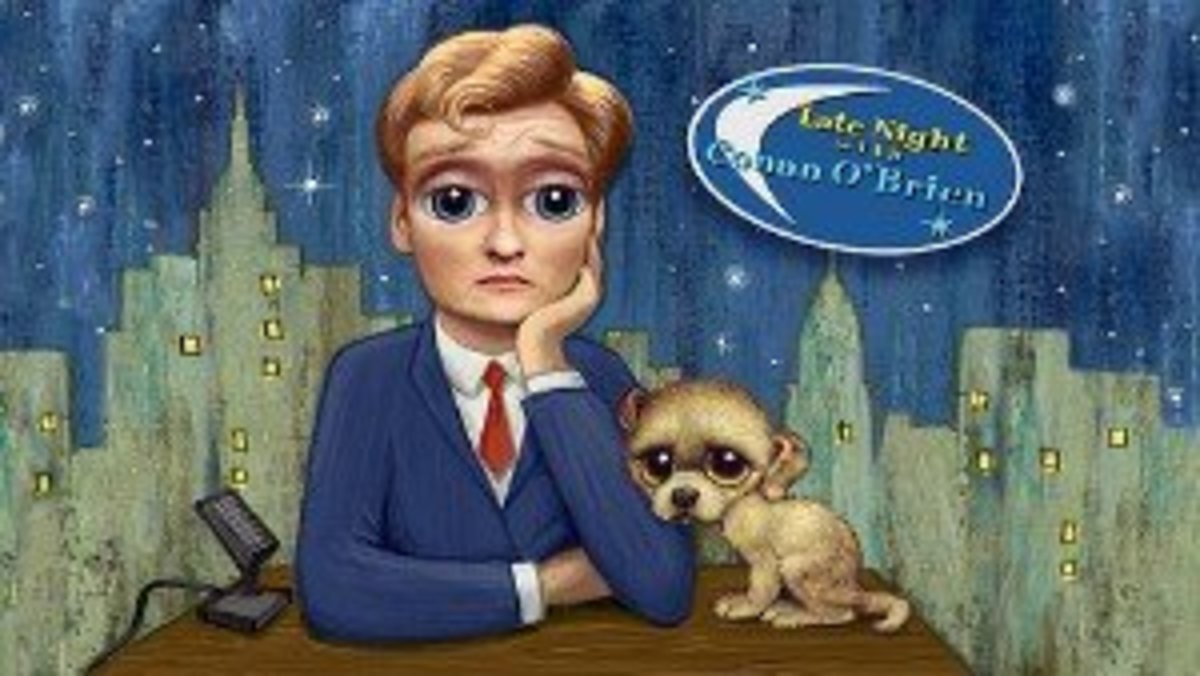Conan O'Brien & Dog--Photo Credit: Kevin G Frank on Flickr