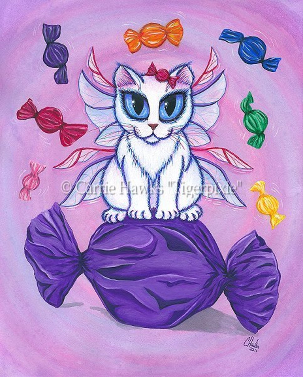 """Candy Fairy Cat--Hard Candy"" by Carrie Hawks"