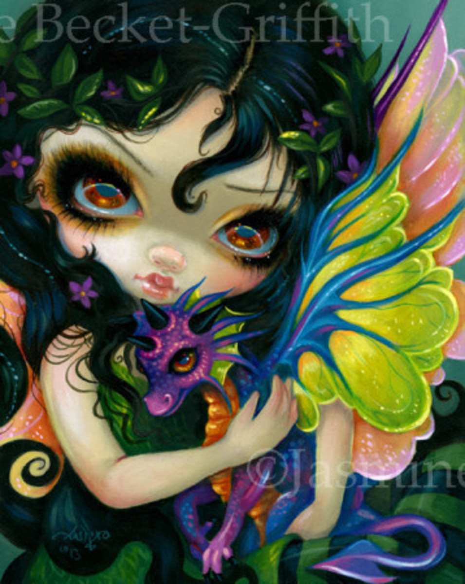 """""""Darling Dragonling V"""" by Jasmine Becket-Griffith"""
