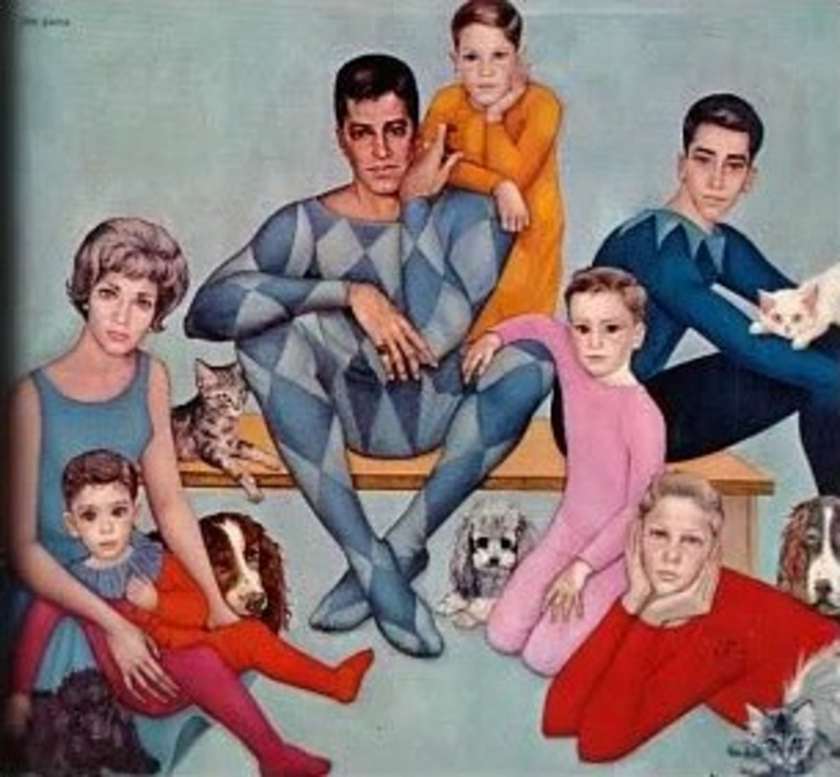 """Family"" (the Jerry Lewis family) by Margaret Keane"