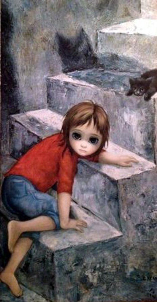 """Steep Climb"" by Margaret Keane"
