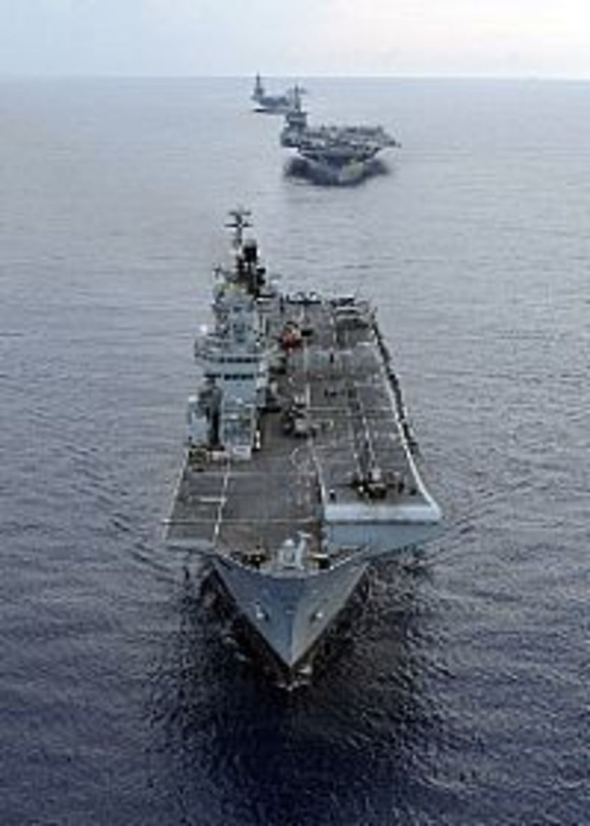 HMS Illustrious (R 06), USS Harry S. Truman (CVN 75) and USS Dwight D. Eisenhower (CVN 69)