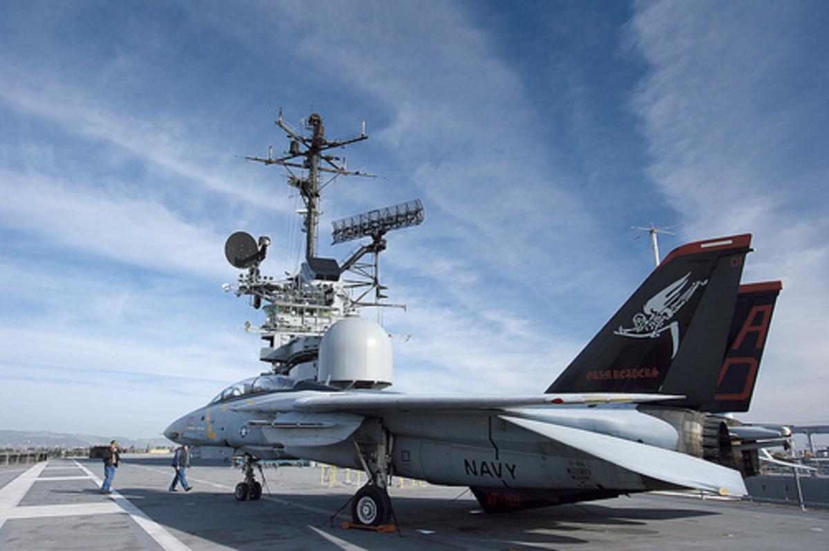 F14 on USS Hornet Flight Deck