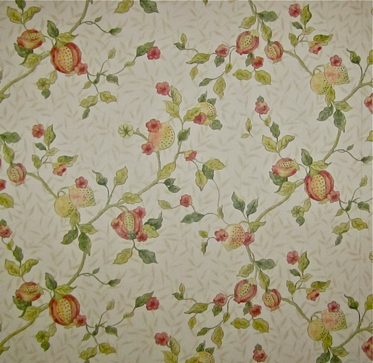 "William Morris ""Fruit Minor"" (Pomegranate) Wallpaper Design c. 1864"