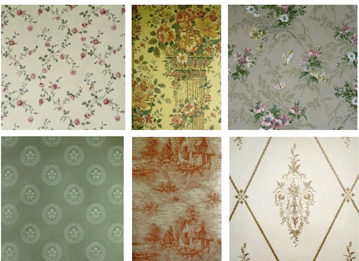 Reproductions of Historic Wallpapers shown here are described below.