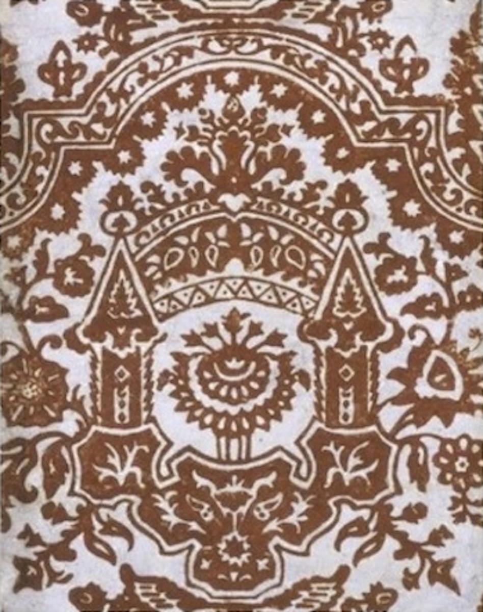 Flocked Wallpaper circa 1680