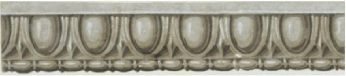 An 1830 wallpaper border imitating egg and dart molding