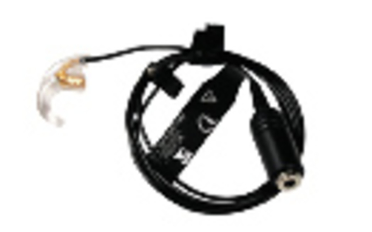 Auxiliary Audio Earhook - very effective accessory to go with a cell phone to improve communication. Image found on Bionicear Product Guide webpage.