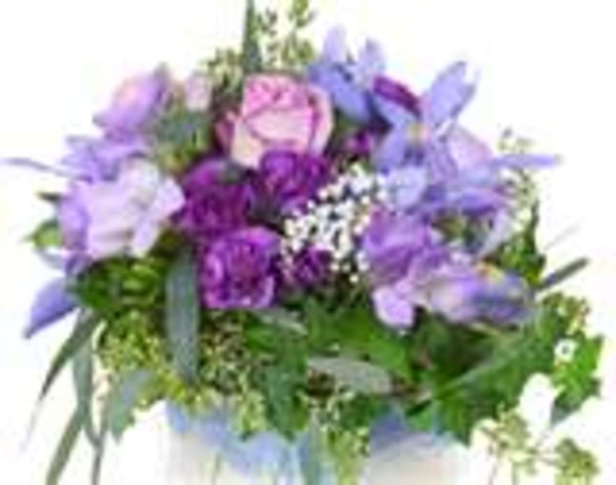 A purple bouquet for Jenny - and for you. Not only for springtime but for sharing gratitude always.
