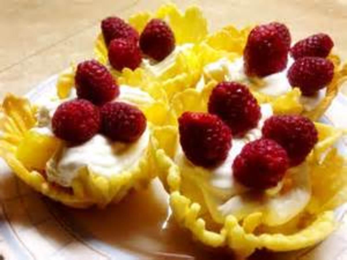 Pizzelle cups used for desserts