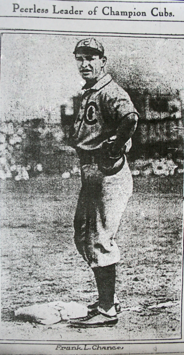 FRANK CHANCE MANAGER 1907 WORLD CHAMPION CHICAGO CUBS