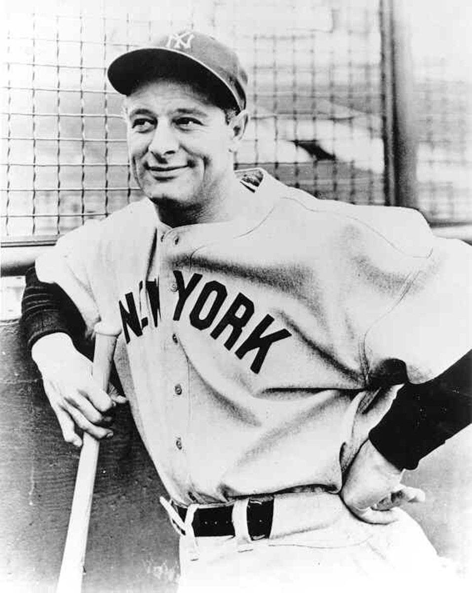 LOU GEHRIG 1938 NEW YORK YANKEES: WORLD CHAMPIONS