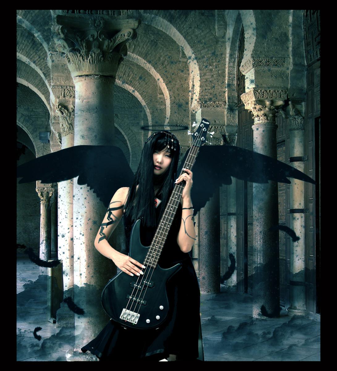 bass guitar wallpaper. this Gothic wallpaper was