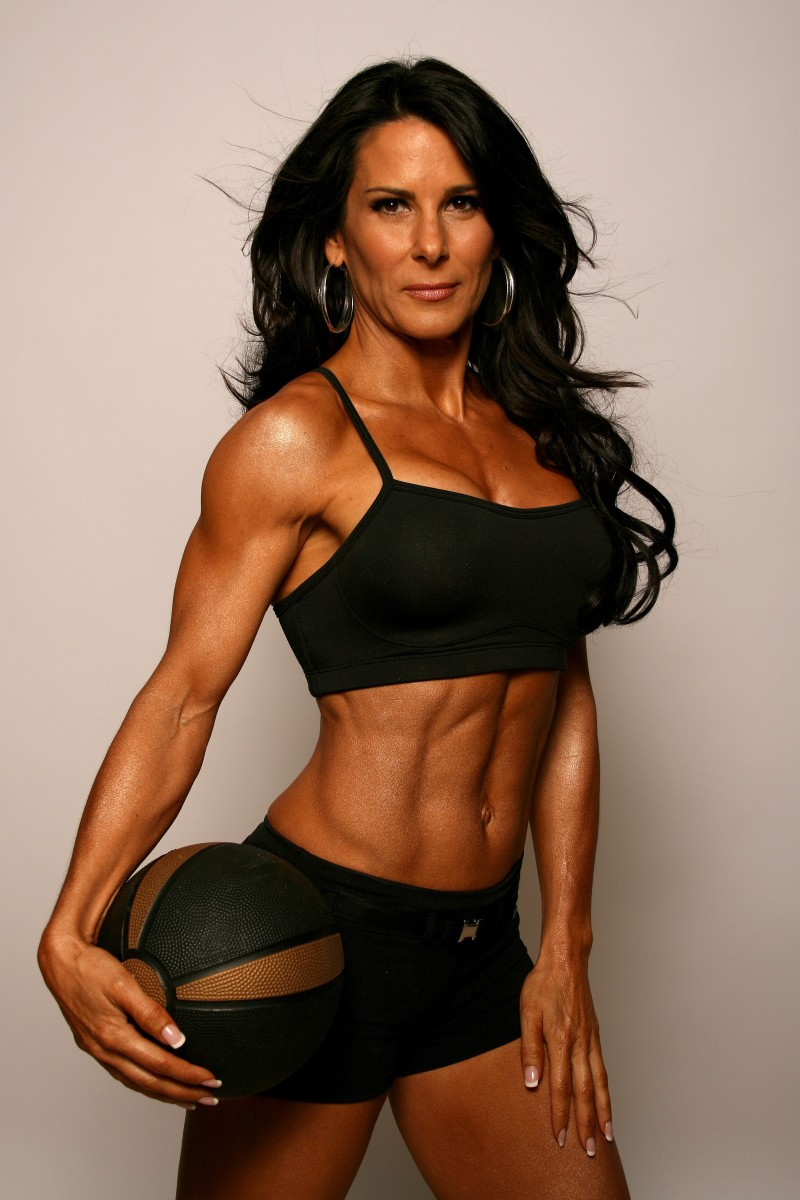 Figure competitor, fitness model, author and personal trainer Laura London