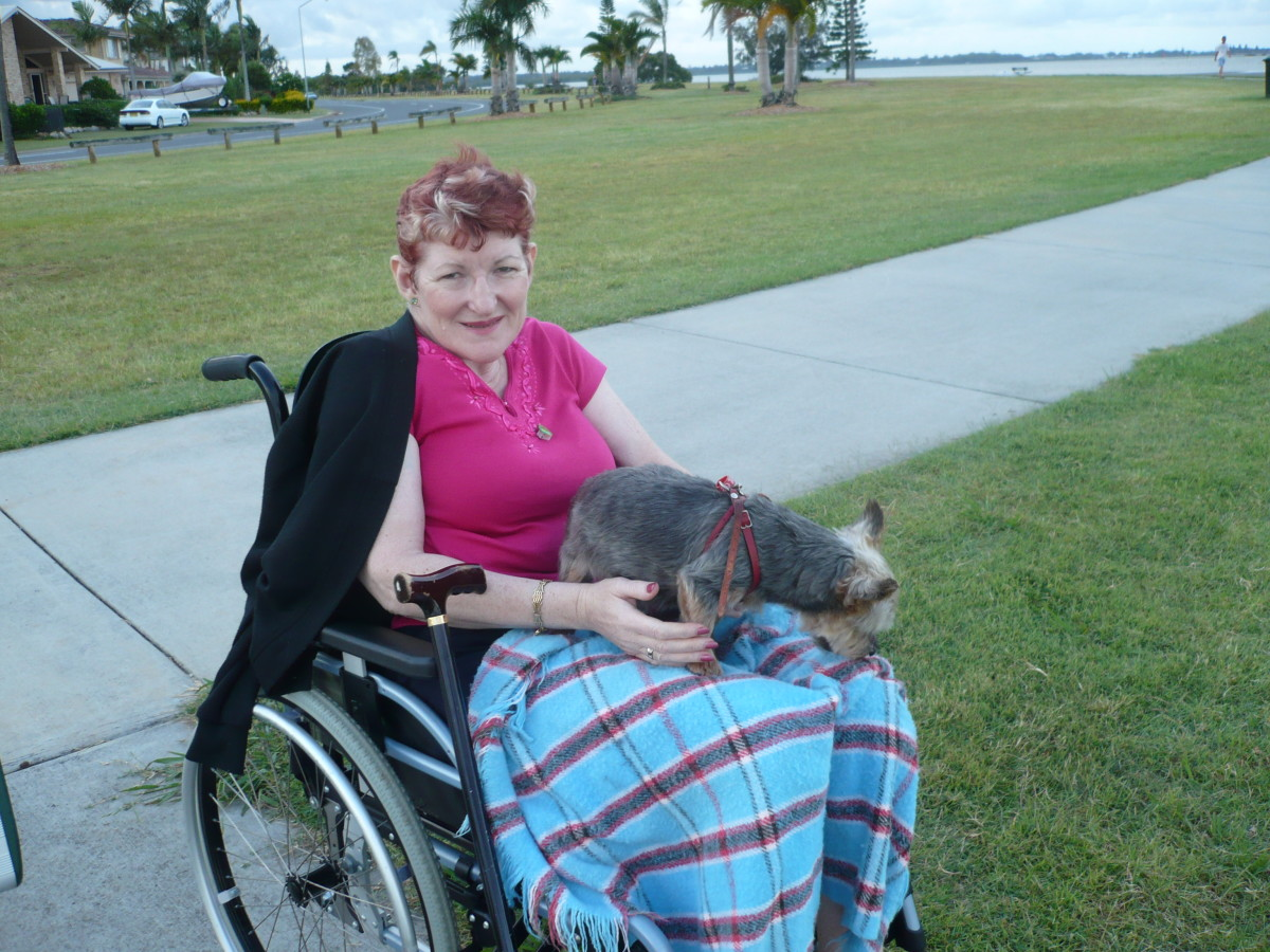 Coming to terms with life in a    Wheelchair has been a difficult one but with the support of Richard and my family, I have found it a lot easier to accept.