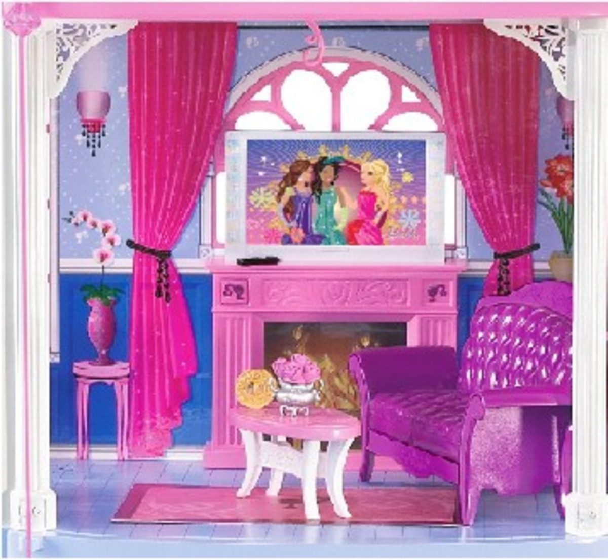 Barbie doll's lavish interior decor...