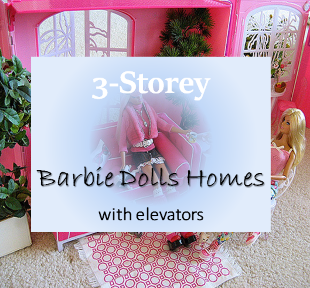 3-Storey Barbie Dolls House with Elevator
