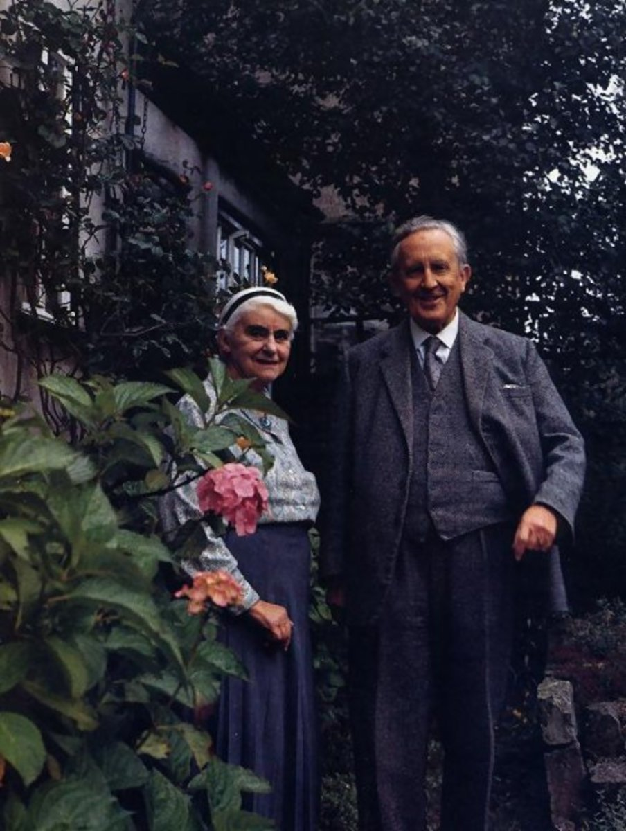 Tolkien and his beloved wife Edith