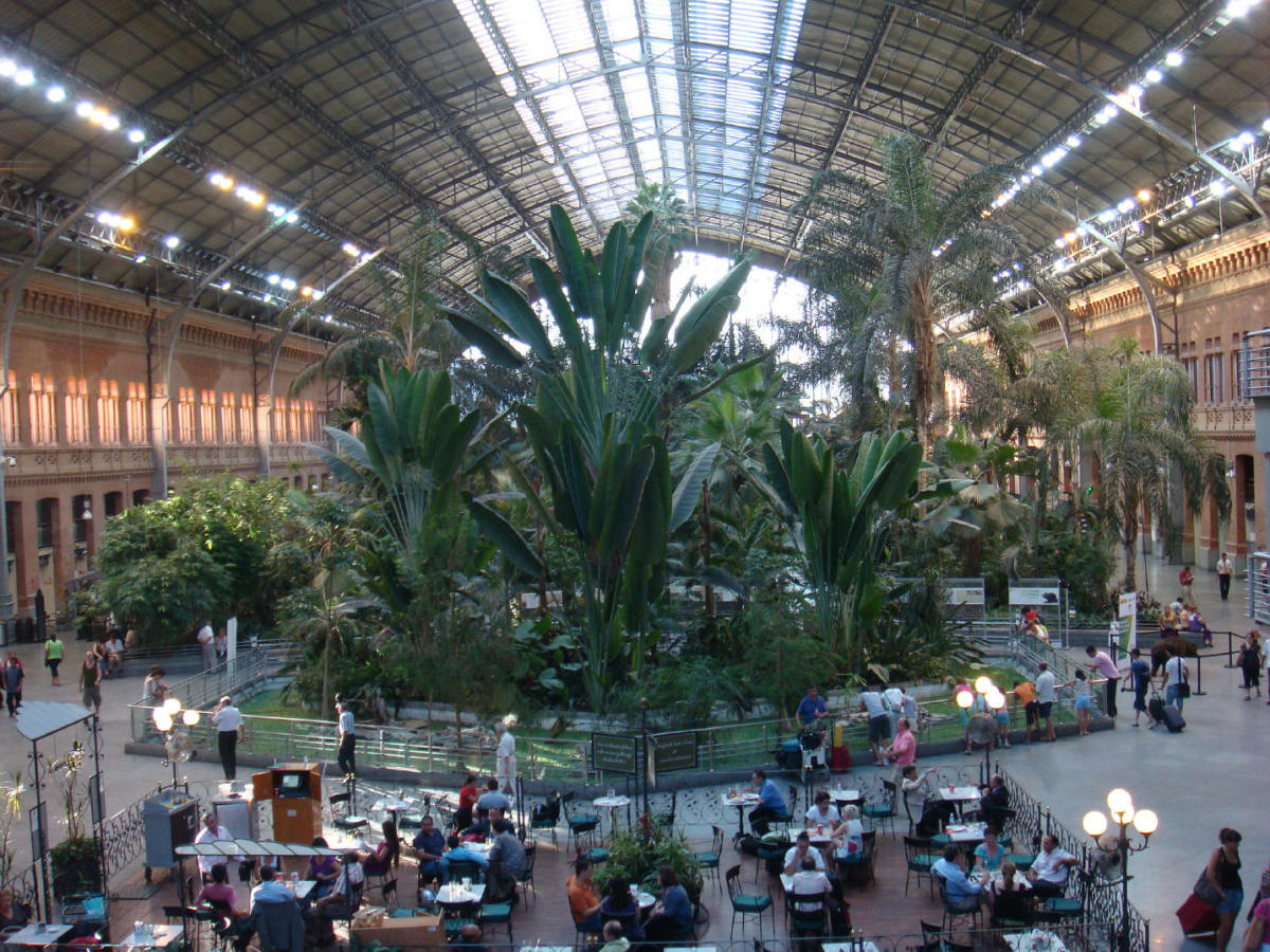 View of Atocha's Tropical Greenhouse